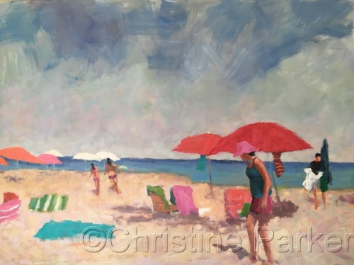 Figurative Seascape by Christine Parker