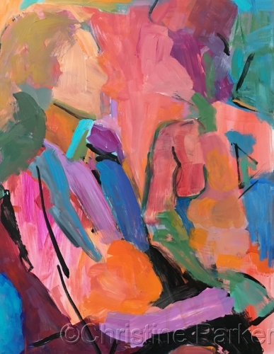 Figurative Abstract by Christine Parker