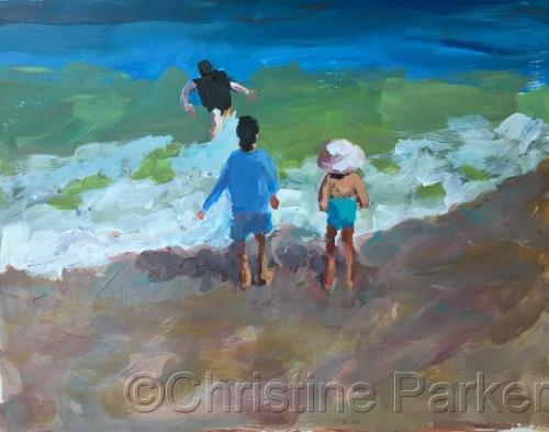Figurative seascape