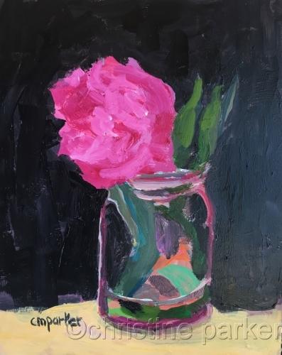 Pink Flower in Vase 2/18/17