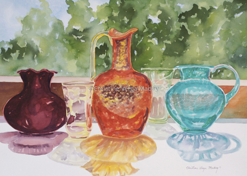 Crackled Sunlit Glass 5 by Christine Verga Maday