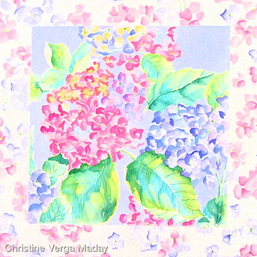 Hydrangea Design for Giftware & Home Fashions