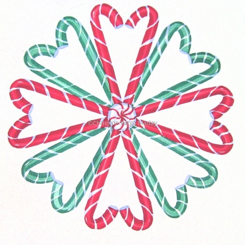 Candy Cane Circle, Design for Giftware & Home Fashions by Christine Verga Maday