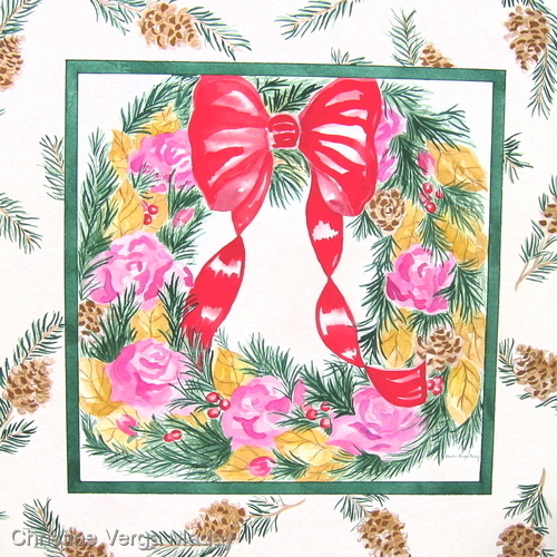 Holiday Wreath Design for Gift Wear and Home Fashions