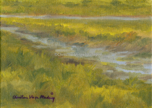 """""""Morning Outgoing Tide"""" (Private Collection)"""