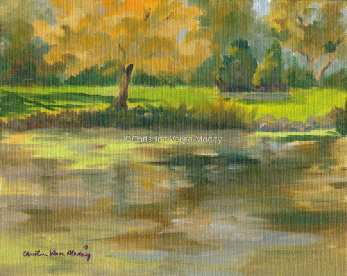"""""""Autum Colors at the Pond"""""""