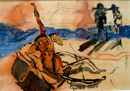 Voyage De Plage Dog Guy Reclining..(Sold)