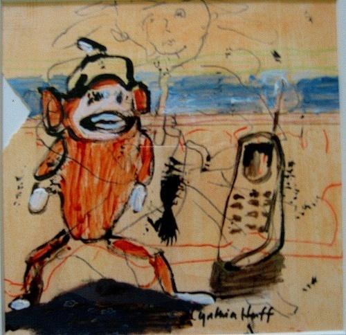 Voyage De Plage Sock Monkey-Cellphone