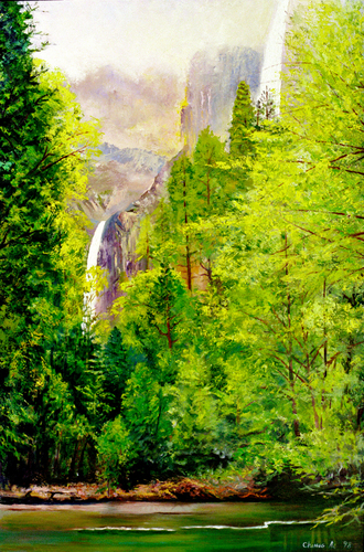 Yosemite Waterfall (large view)