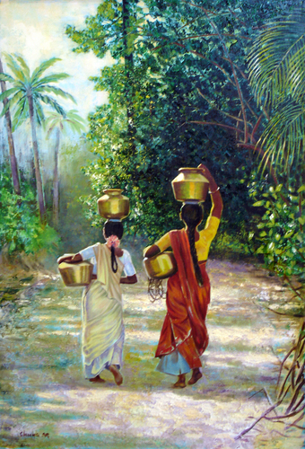 South Indian Water Carriers (large view)