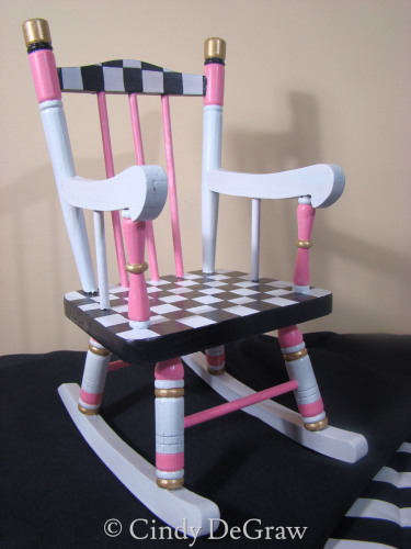 Miniature Wooden Doll Chair