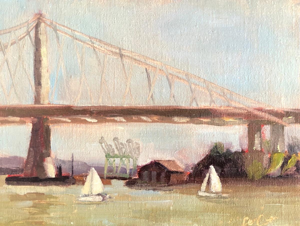 Golden Bear Regatta, San Francisco Bay Bridge (framed) (large view)