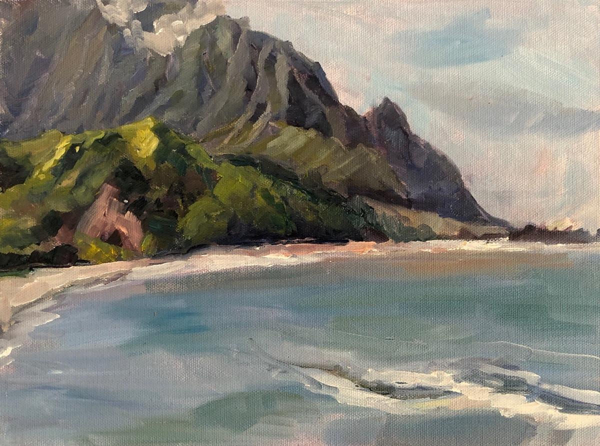Na Pali Coast Kauai from Princeville (large view)