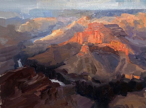 Grand Canyon Sunset Study