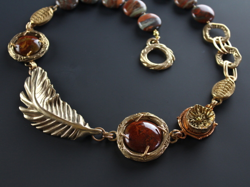 Bronze with Red Jasper