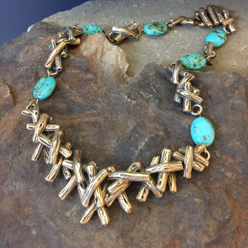 Twigs with turquoise nuggets