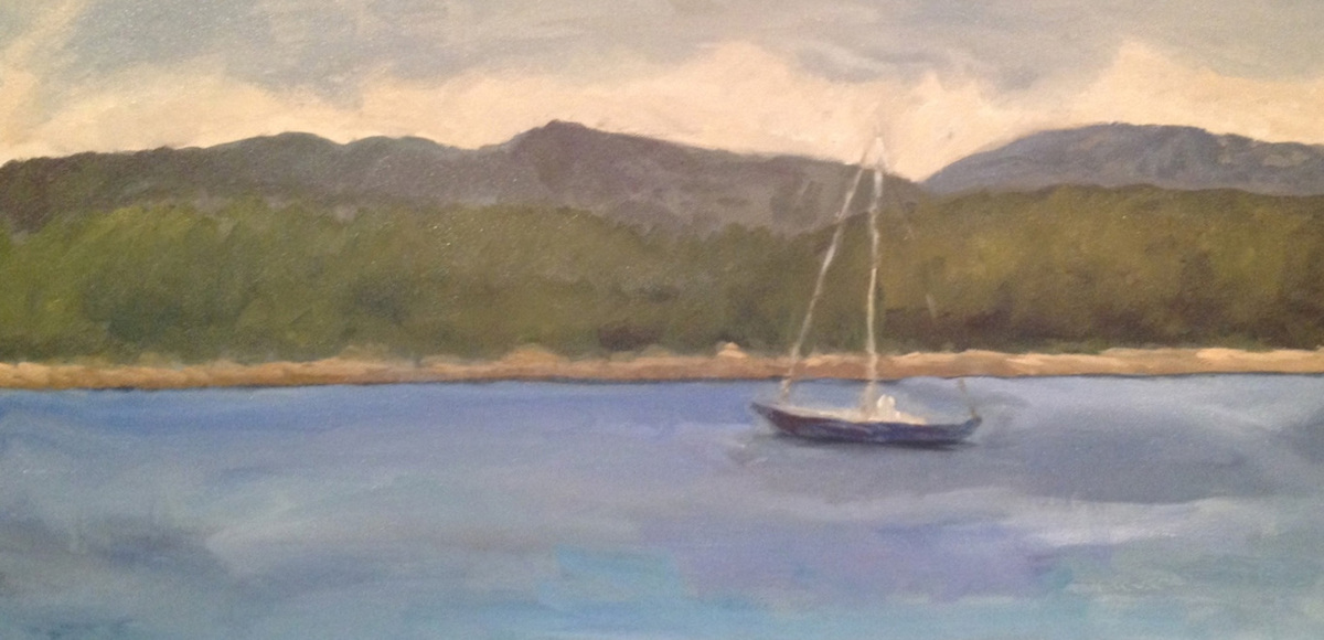 Manset Sailboat, Mount Desert Island, Maine (large view)
