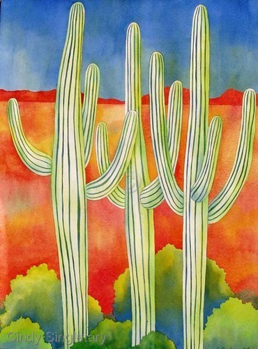 """Three Cactus"" (large view)"