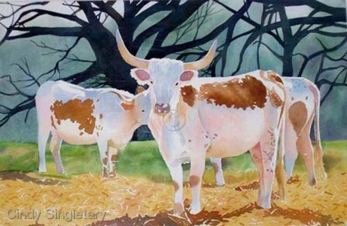 """Colorful Cows"" (large view)"