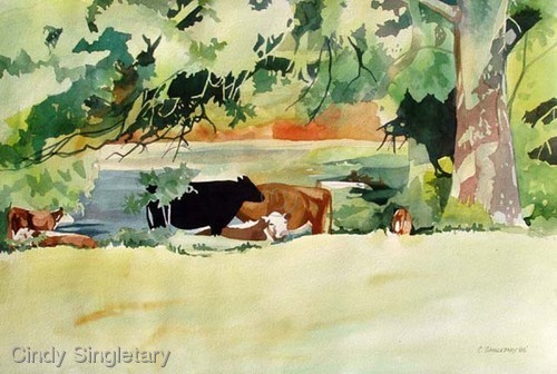 """Cows Resting"" (large view)"
