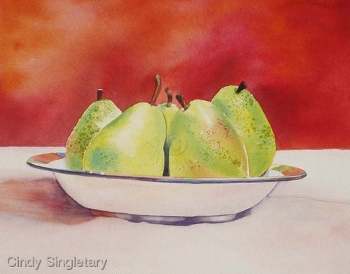 """Pears in a Bowl"" (large view)"