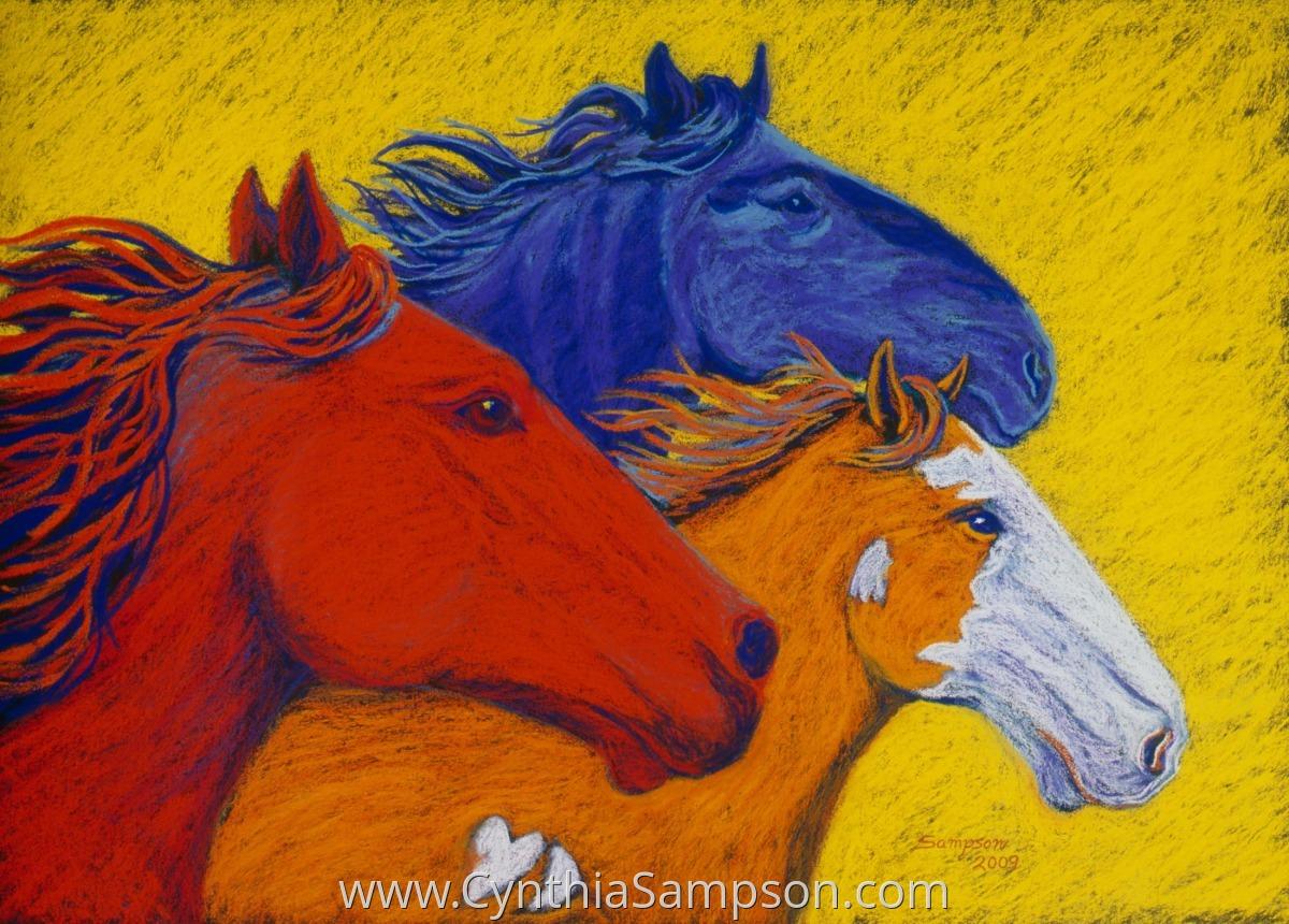 """Wild Horses II""  (Colorado mustangs) (large view)"