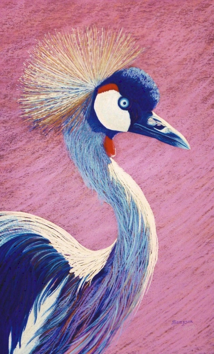 """""""Crowned Crane of Africa"""" (large view)"""