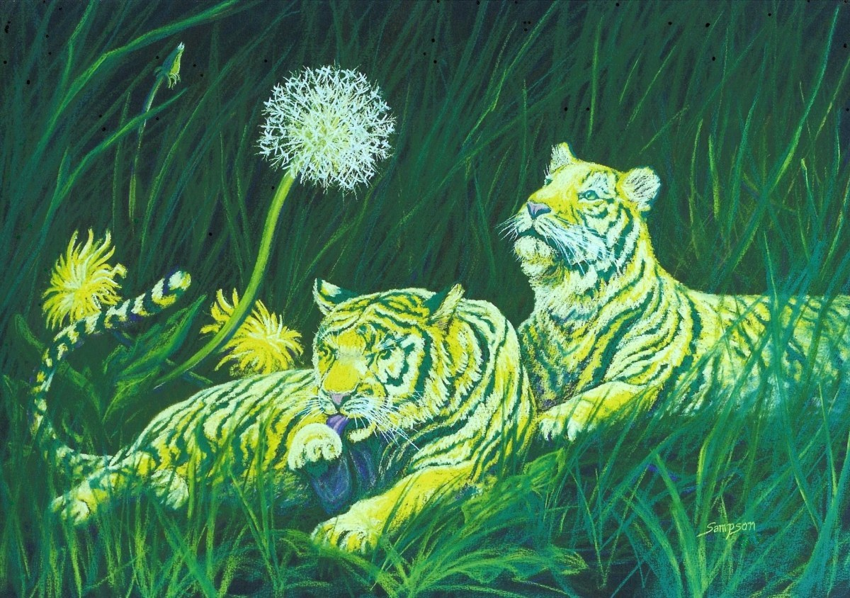 """""""Dandeligers""""     (fantasy miniature tigers) (large view)"""