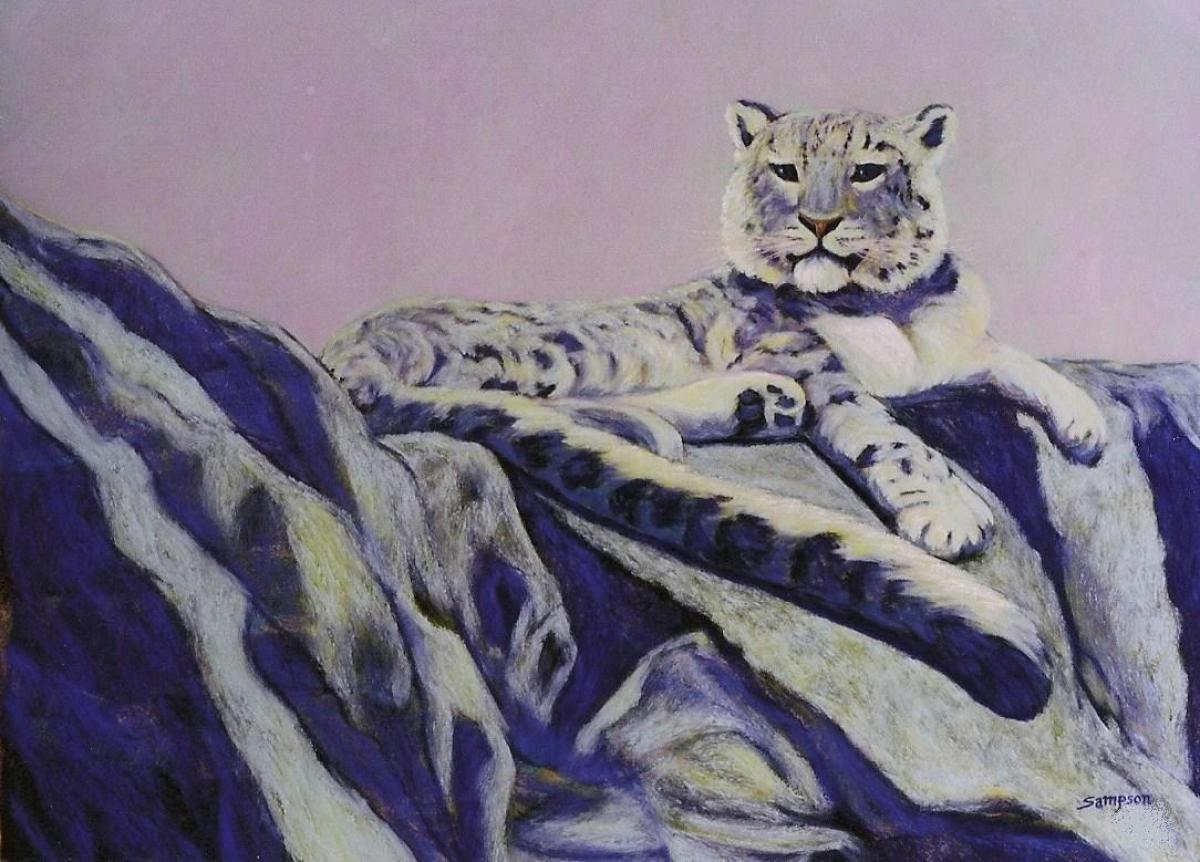 """Himalayan Ice""   (Snow leopard) (large view)"
