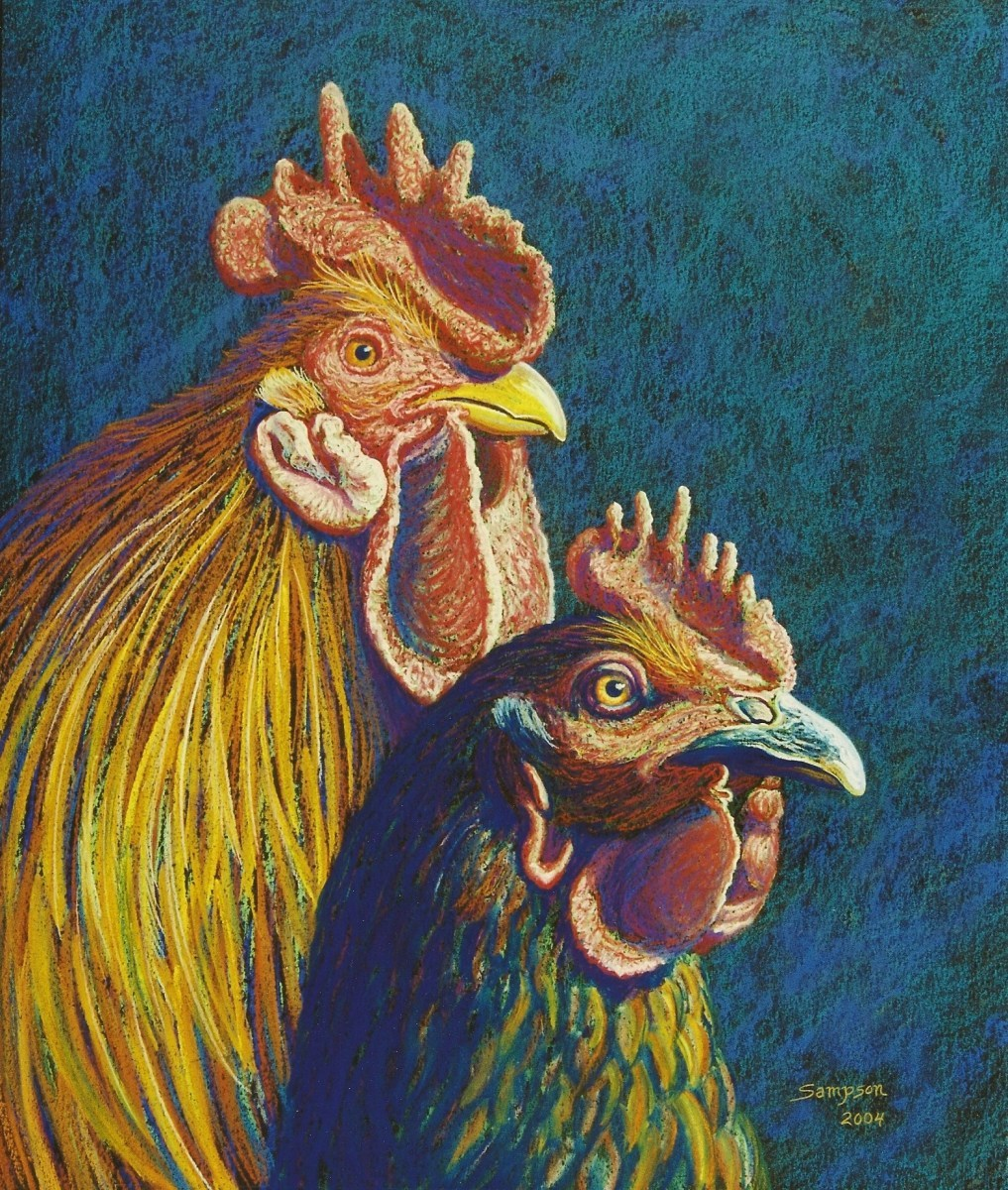 """The Joneses""   (Rooster & Hen) (large view)"