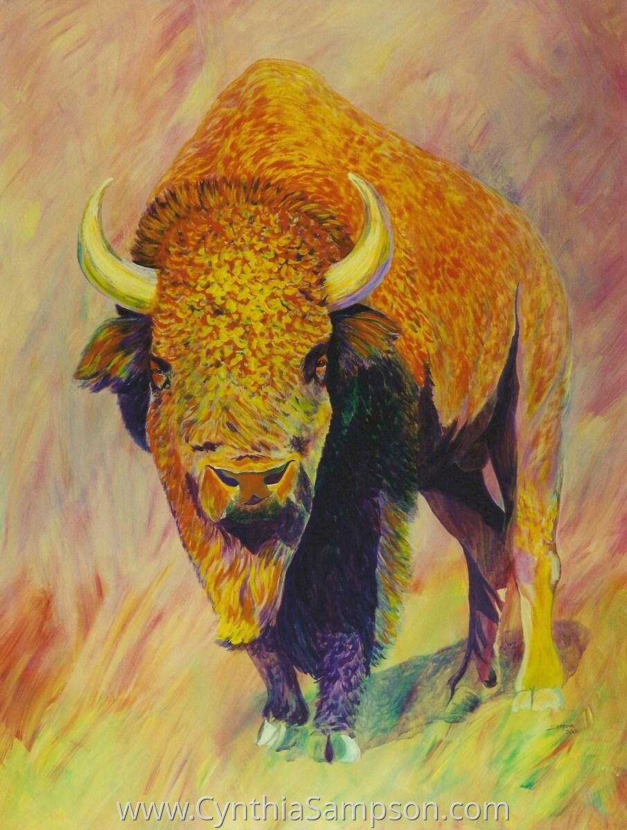 """American Bull""   (buffalo) (large view)"