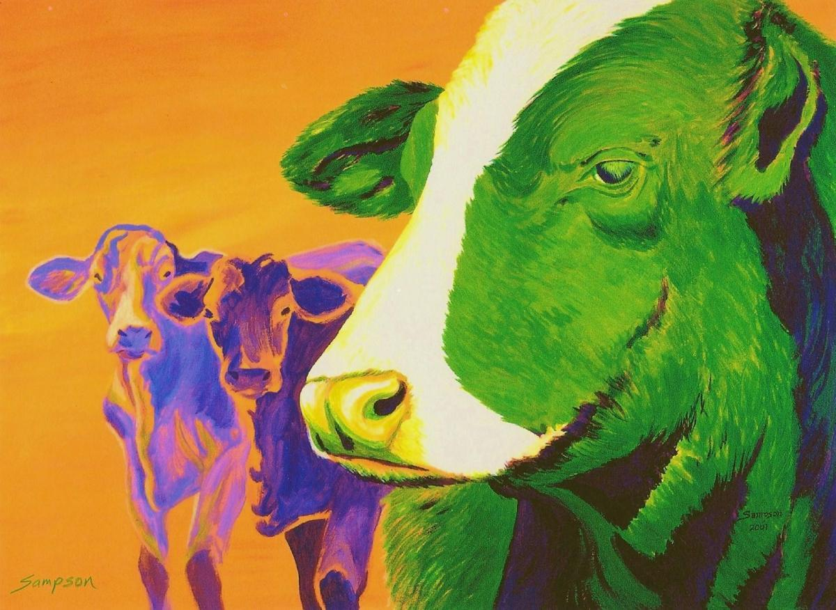 """""""Secondary Cows""""  (range cows) (large view)"""
