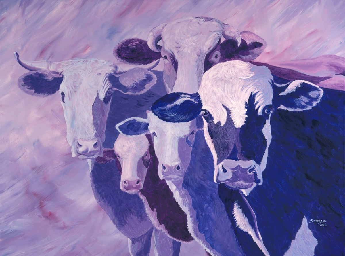 """""""Girls You'll Never Guess What I Just Heard""""   (range cows) (large view)"""