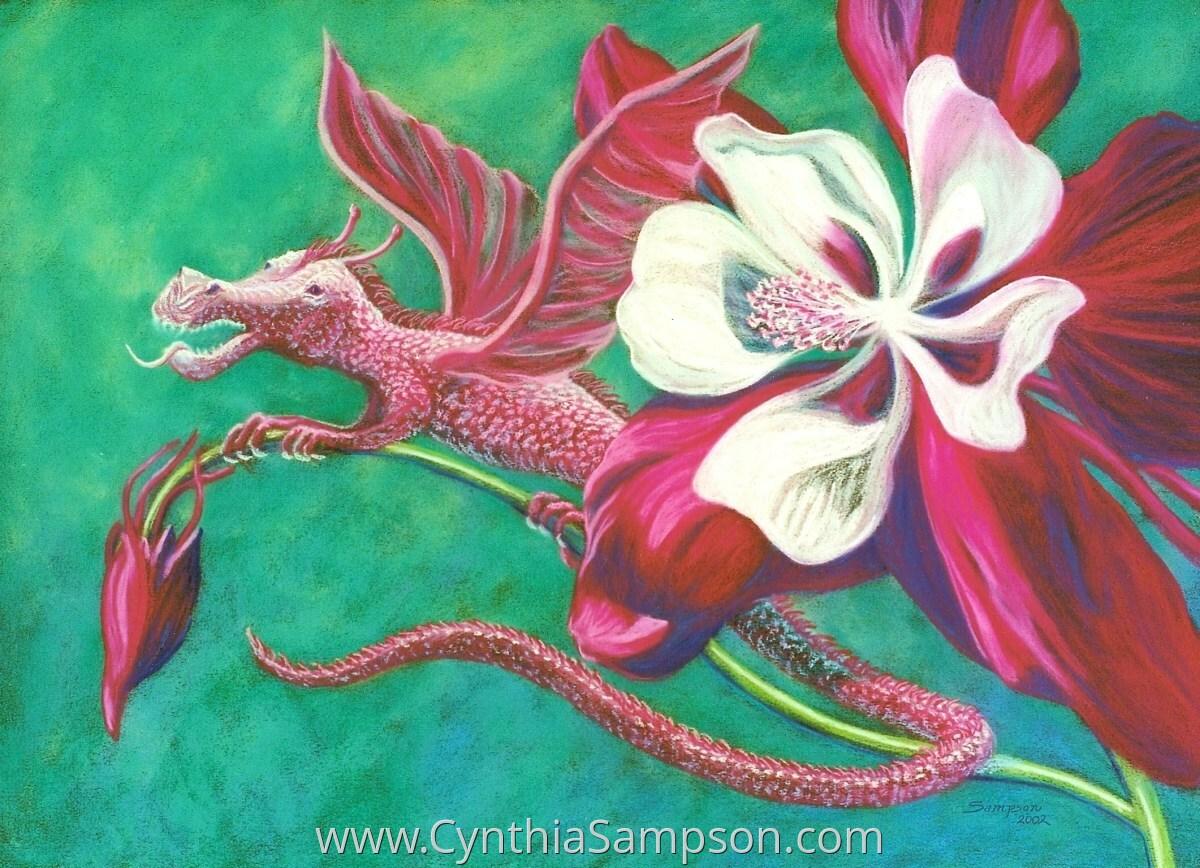 """Moon Dragon""  (fantasy miniature dragon) (large view)"