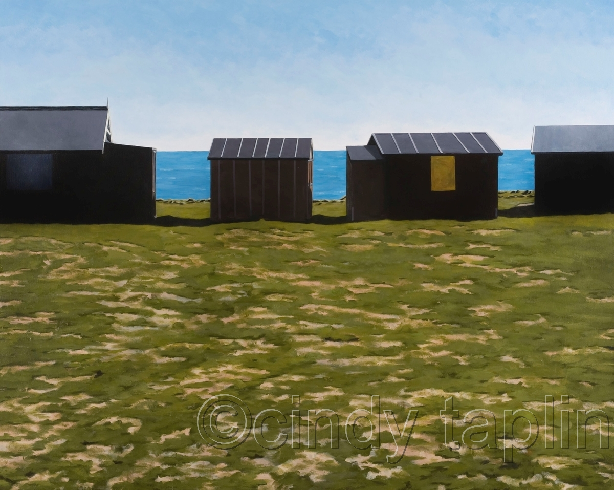 Beach Huts at Portland Bill (large view)