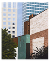 Cityscapes, Winston-Salem cityscape, NC artists, Cindy Taplin paintings - Cityscape Painting
