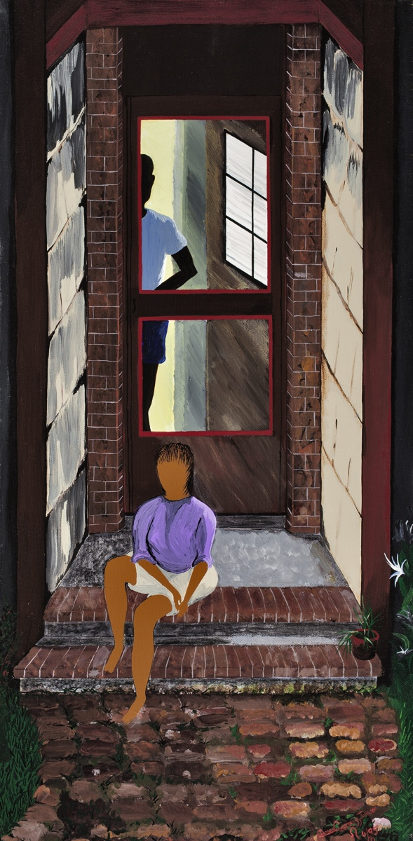 WOMAN ON PORCH (large view)