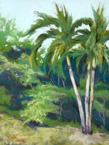 Back Yard Palms by Cosette Kosiba