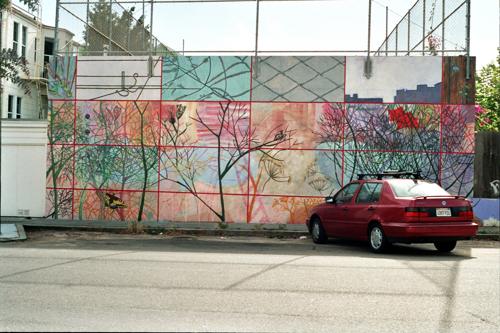 """""""Regarding Here"""" full mural view"""