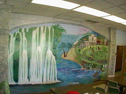Castro Mission Health Center Staff Room Mural