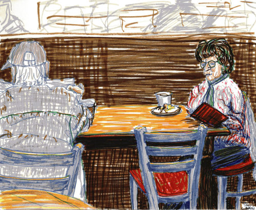 Claire Bain Cafe Drawing 9