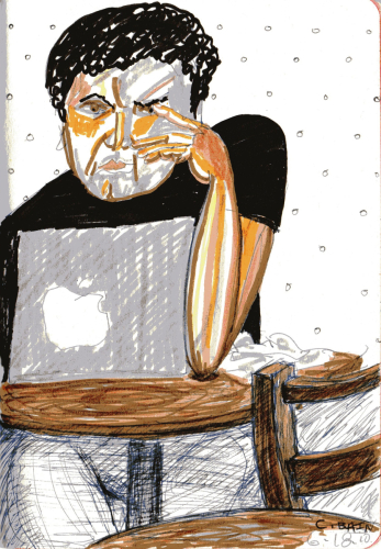 Claire Bain Cafe Drawing 2