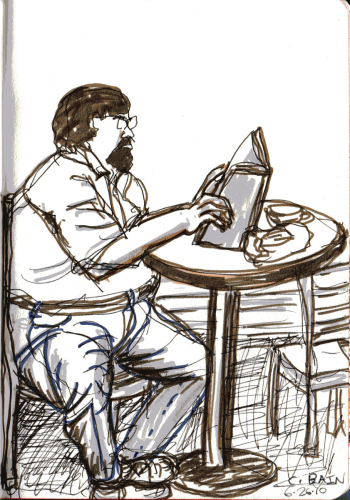 Claire Bain Cafe Drawing 3