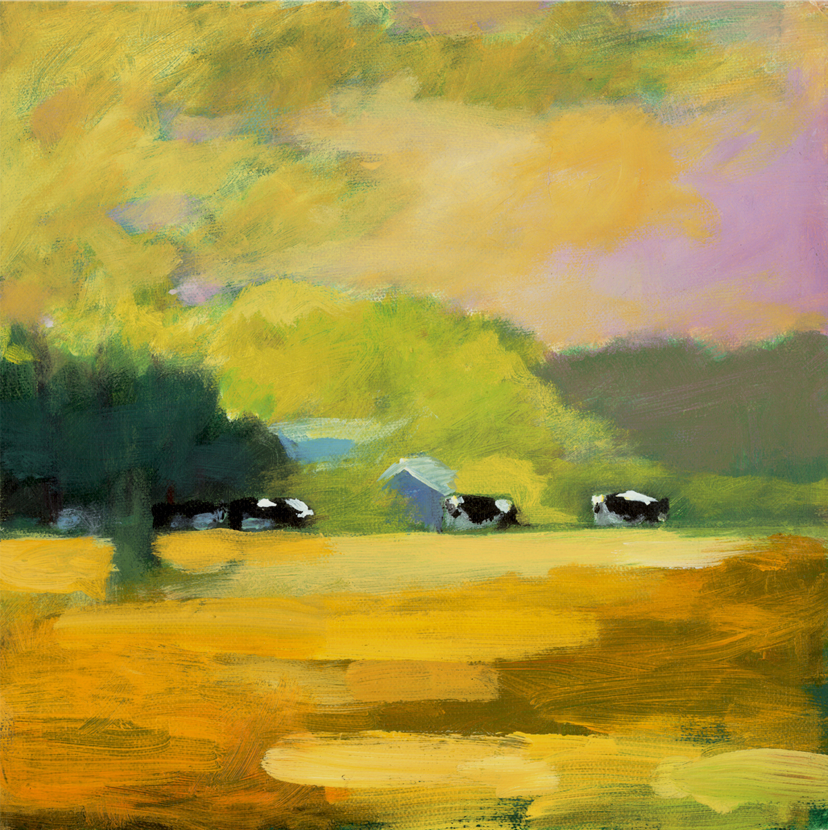 """""""Morning Feed"""" Cow Collection (large view)"""