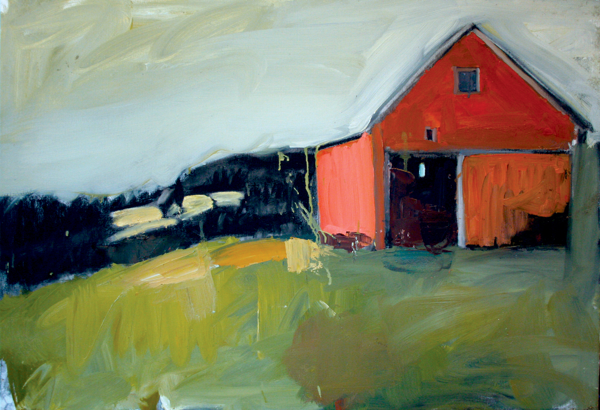 """""""Red Barn"""" Vermont (large view)"""