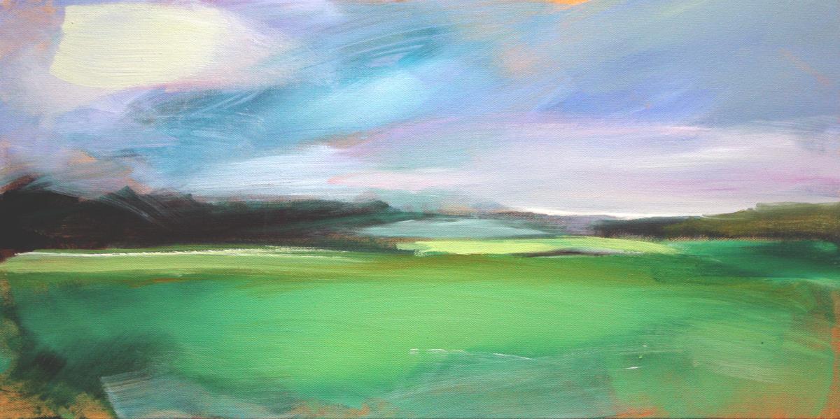 """Violaceous Sky"" #1 Salt Marsh Collection #1 (large view)"