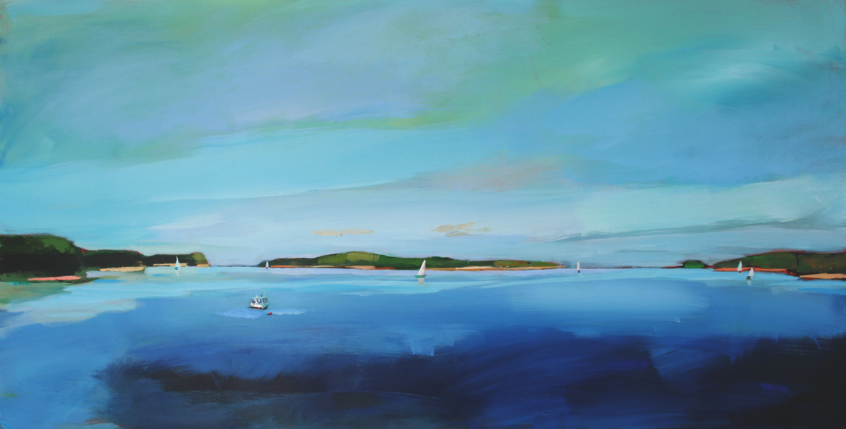 Azure Sky over Casco Bay (large view)