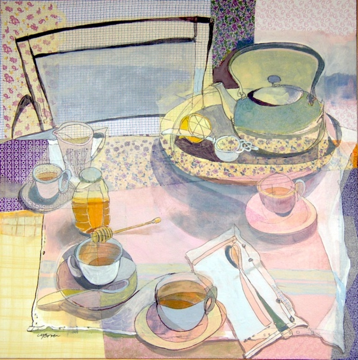 Grandma's tea and linen (large view)