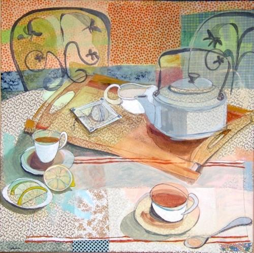 Stitching and tea