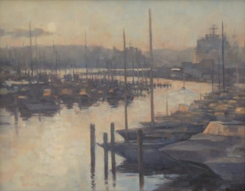 Sunrise Little Creek by Chuck Law